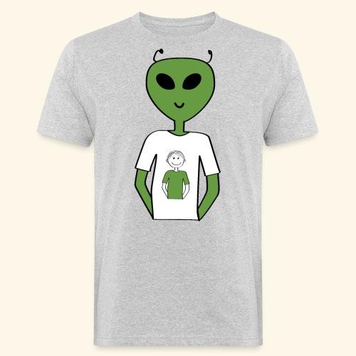 Alien human T shirt - Ekologisk T-shirt herr