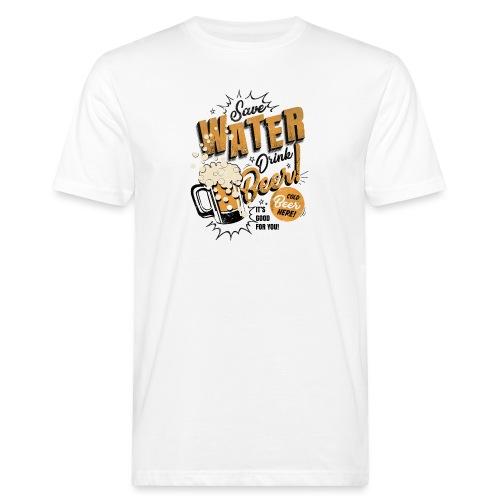 Save water - Økologisk T-skjorte for menn
