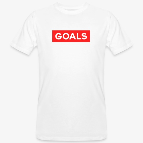 GOALS SQUARE BOX - Men's Organic T-Shirt