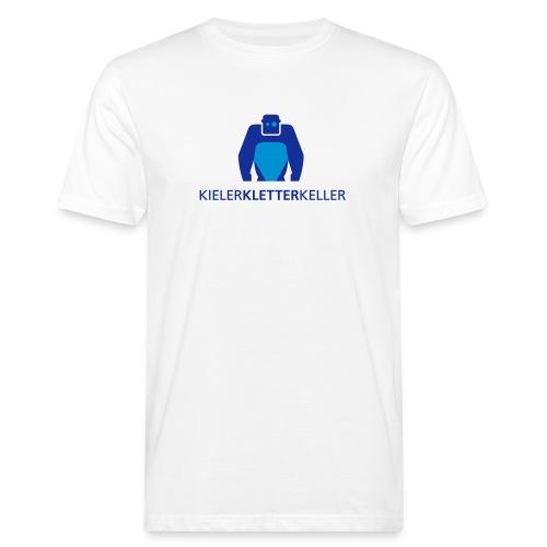 KielerKletterKeller e.V. Logo - Blau - Männer Bio-T-Shirt