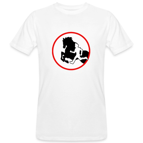 Horse Agility Logo - Männer Bio-T-Shirt