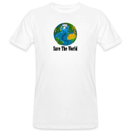 Save The World-Planet - Ekologisk T-shirt herr