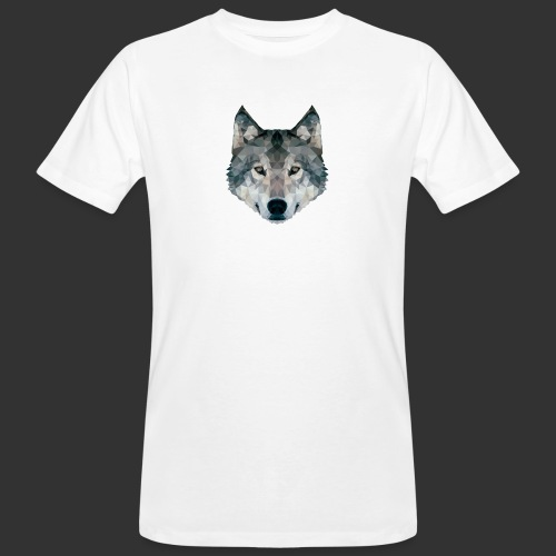 Loup LowPoly - T-shirt bio Homme