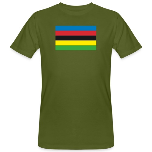 Cycling_World_Champion_Rainbow_Stripes-png - Mannen Bio-T-shirt