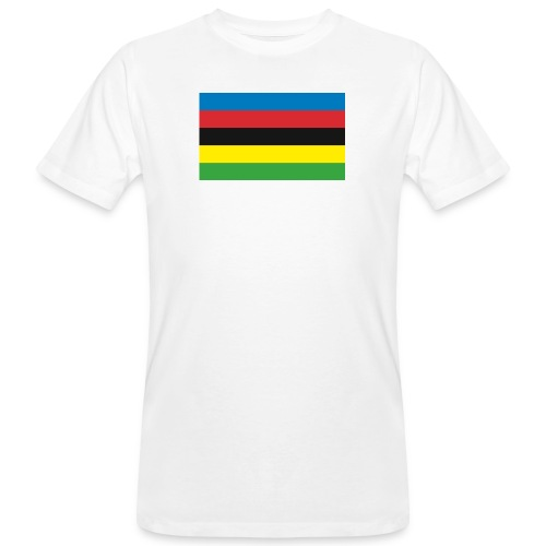 Cycling_World_Champion_Rainbow_Stripes-png - Mannen Bio-T-shirt