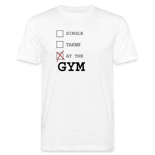 single taken gym - Mannen Bio-T-shirt