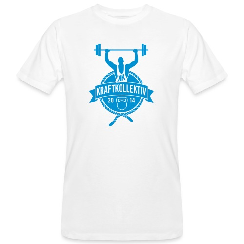 Kraftkollektiv_Logo_clean_blue - Männer Bio-T-Shirt