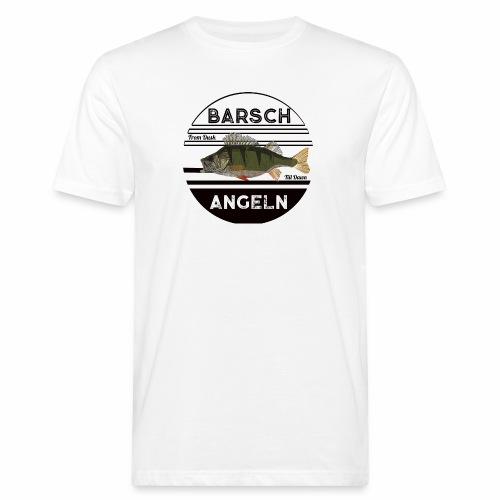 Retro Barsch angeln Schwarz - Männer Bio-T-Shirt