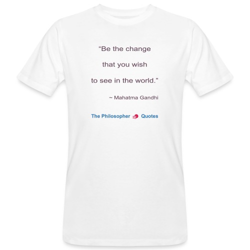 Gandhi Be the change b - Mannen Bio-T-shirt