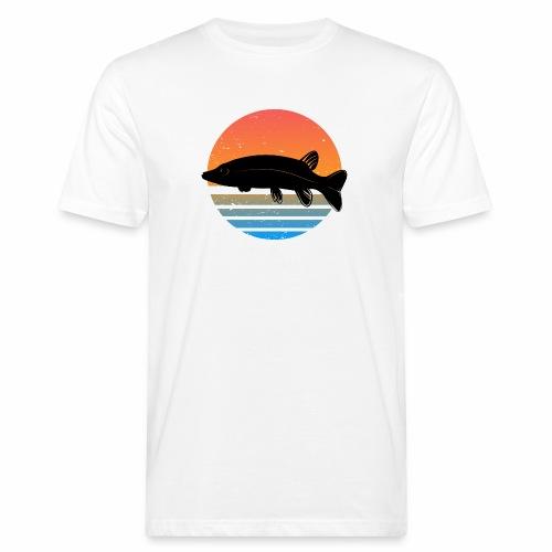Retro Hecht Angeln Fisch Wurm Angler Raubfisch - Männer Bio-T-Shirt