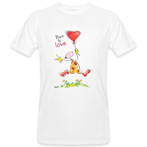 OUPS T Shirt Born to Love - Männer Bio-T-Shirt