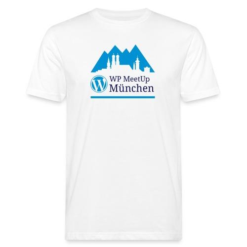 Meetup Logo weisses Shirt - Männer Bio-T-Shirt