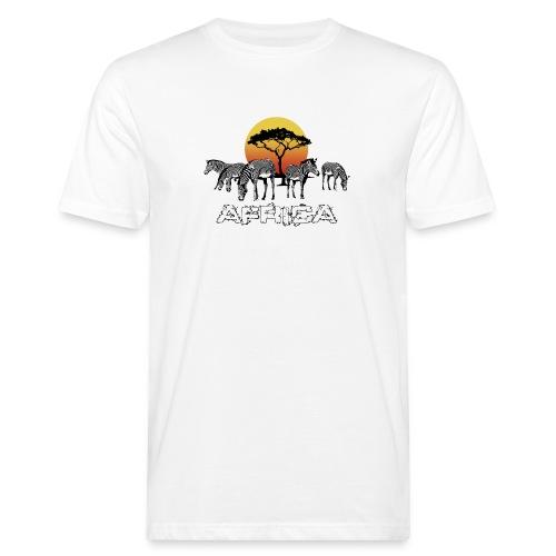 Zebras Afrika Wild Pferde Equus Serengeti Safari - Men's Organic T-Shirt
