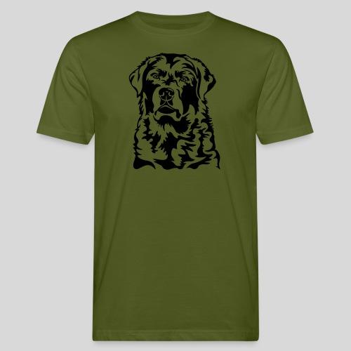 Labradorkopf *dunkel* für helle Textilien - Männer Bio-T-Shirt
