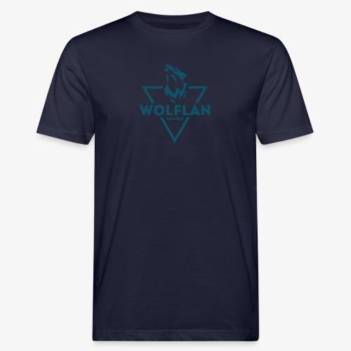 WolfLAN Logo Gray/Blue - Men's Organic T-Shirt