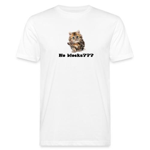 No block kitten - Økologisk T-skjorte for menn