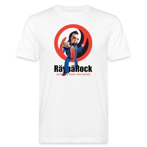 Räyhärock valkoinen - Miesten luonnonmukainen t-paita