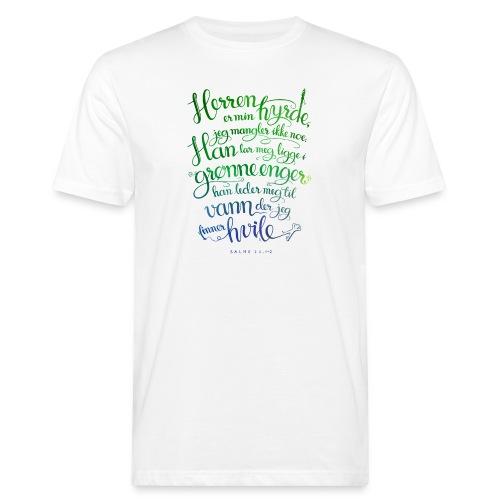 Herren er min hyrde - Økologisk T-skjorte for menn