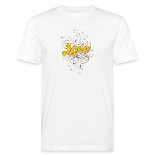 Scritta Love con decorazione - T-shirt ecologica da uomo