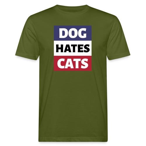 Dog Hates Cats - Männer Bio-T-Shirt