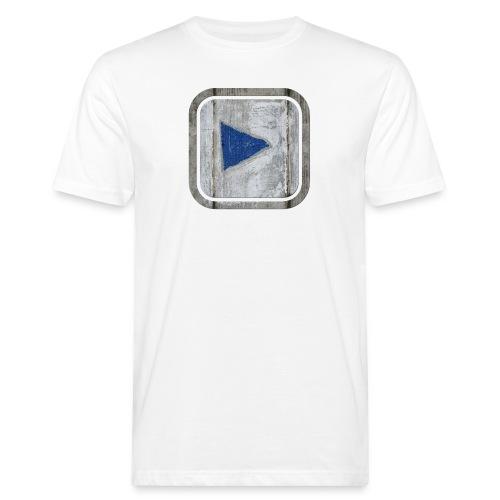hier entlang ! - Männer Bio-T-Shirt