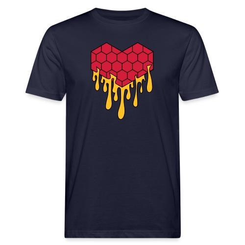 Honey heart cuore miele radeo - T-shirt ecologica da uomo