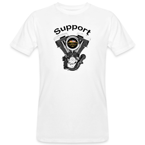 Support Indis bunt evolution engine - Männer Bio-T-Shirt