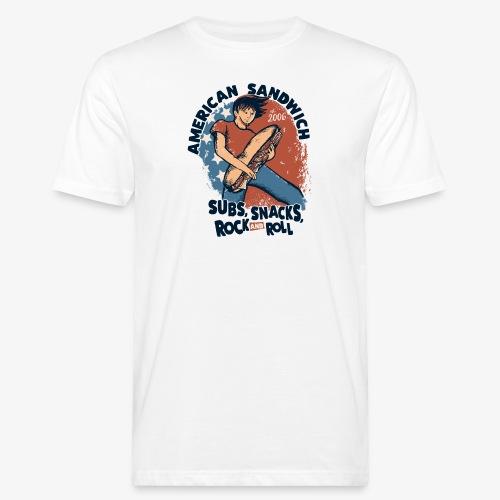 American Sandwich Rocker dunkel - Männer Bio-T-Shirt