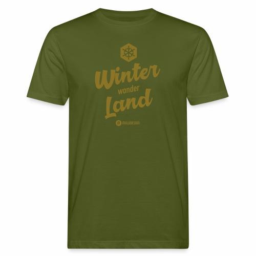 Winter Wonder Land - Miesten luonnonmukainen t-paita
