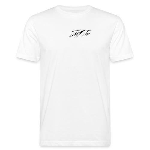 JeffTec Signature Logo White - Men's Organic T-Shirt