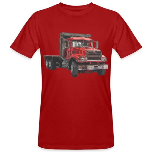 Flat Truck 3-axle - Red - Men's Organic T-Shirt