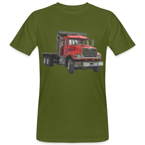 Flat Truck 3-axle - Red - Men's Organic T-Shirt