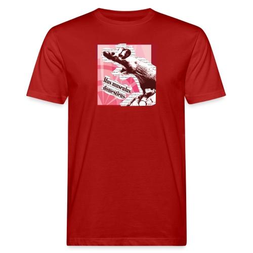 Mus musculus - punainen - Miesten luonnonmukainen t-paita