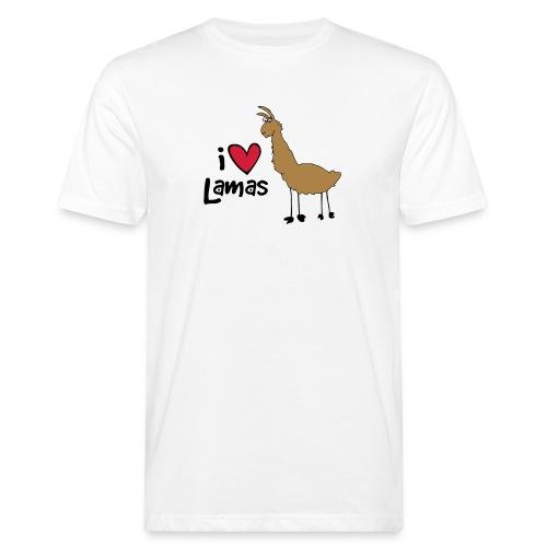 I love Lamas - Männer Bio-T-Shirt