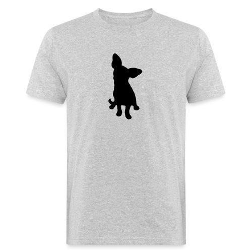 Chihuahua istuva musta - Miesten luonnonmukainen t-paita