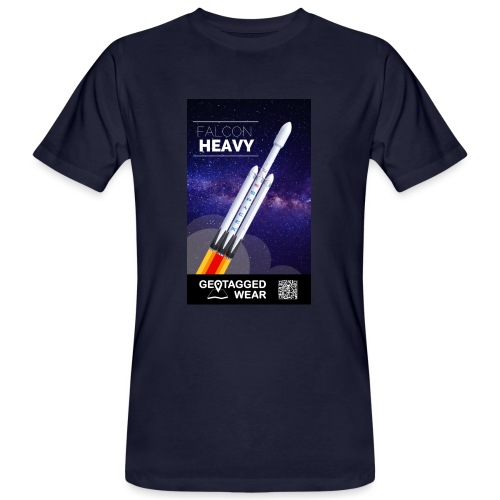 Falcon Heavy - Männer Bio-T-Shirt