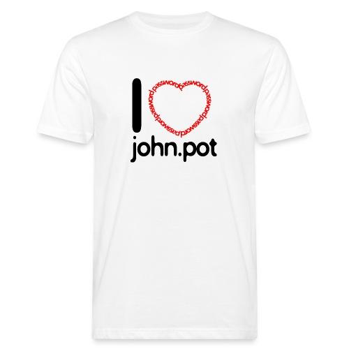 I Love John.pot - Men's Organic T-Shirt