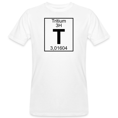 T (tritium) - Element 3H - pfll - Men's Organic T-Shirt