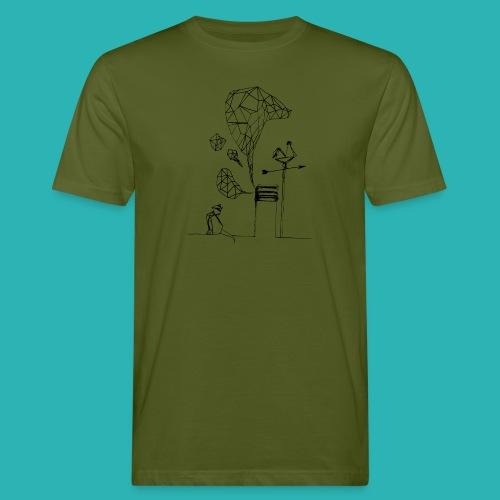 Carta_gatta-png - T-shirt ecologica da uomo