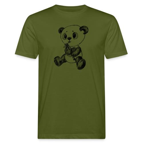 Panda Karhu musta scribblesirii - Miesten luonnonmukainen t-paita