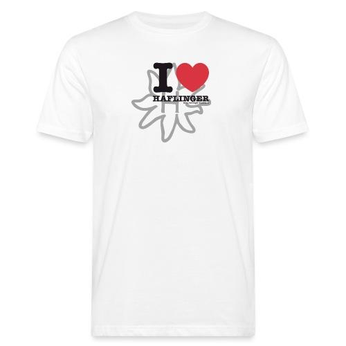 I love Haflinger - Männer Bio-T-Shirt