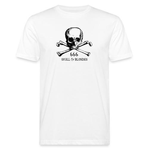 skull & blondes (black) - Männer Bio-T-Shirt
