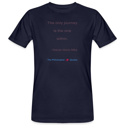 Rainer Maria Rilke The journey within Philosopher - Mannen Bio-T-shirt