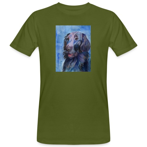 flatcoated retriever - watercolor - Organic mænd