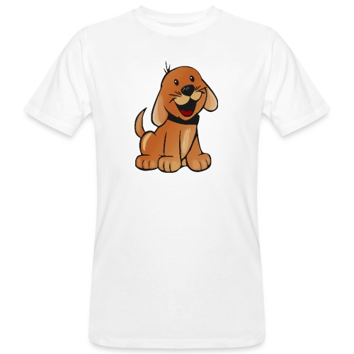 cartoon dog - T-shirt ecologica da uomo