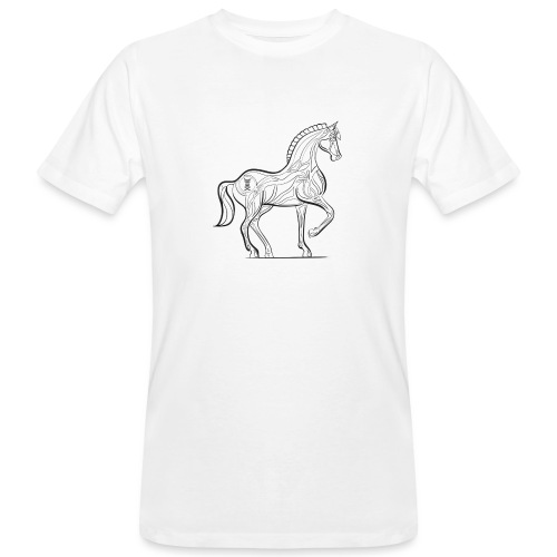 Equus Pferd - Männer Bio-T-Shirt