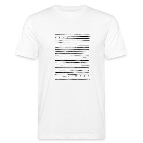 Trixi Linden Linien Design Weiß - Männer Bio-T-Shirt