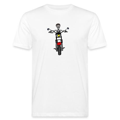 calavera moto - Camiseta ecológica hombre