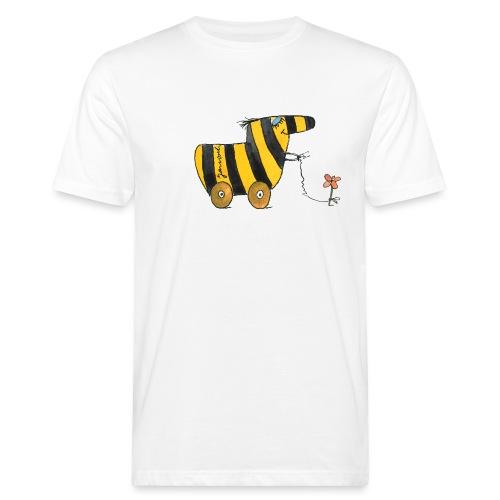 Janoschs Tigerente mit Blume - Männer Bio-T-Shirt