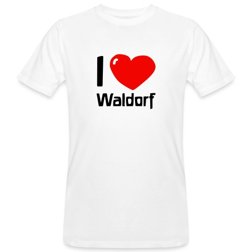 I love Waldorf - Männer Bio-T-Shirt